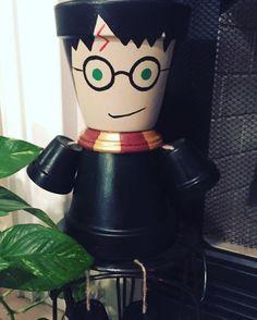Harry Potter inspired flower pot people/ garden statue/ indoor