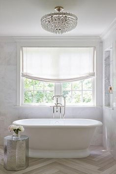 Simple yet oh so glamorous bathroom - perfect for a Hamptons style home - Shophouse design