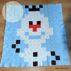 Olaf (Frozen) pixel plaid by Miss Needles