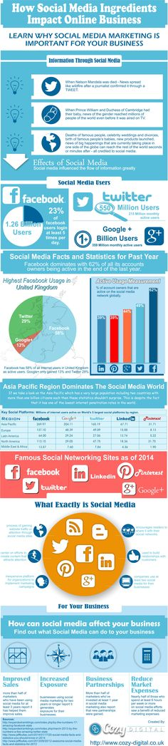 How Social Media Ingredients Impact Online Business #infographic
