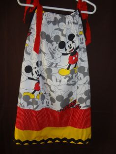 Girls Mickey Mouse Pillowcase Dress with matching by ColleenPoland, $27.50