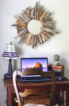 driftwood mirror - would look neat with the drift wood prisim's to link the two items.