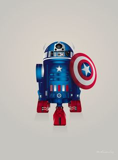 Captain Droid! | Starwars Droid R2-D2 Superheroes on Behance