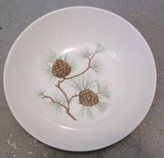 Vintage French Saxon China-Pine Cone   China that I love   Pinterest ...