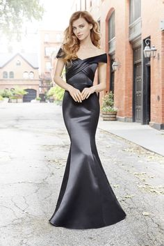 dff1a9b22ef6 Bridal Gowns and Wedding Dresses by JLM Couture - Style 5754 Satin Dresses,  Black Satin