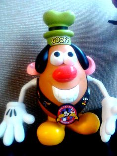 My Goofy Potato head. Made with pieces I got from Once Upon a Toy in Orlando Fl.