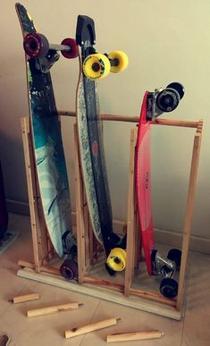 The £6 Skateboard / Longboard Rack