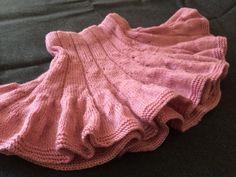 Hand Knitted Girls Skirt  Handmade Skirt  Pink by MarianaPandi