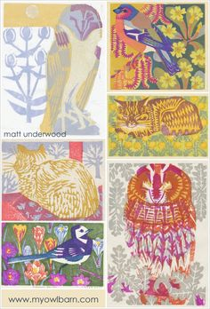 My Owl Barn: Woodblock Prints by Matt Underwood