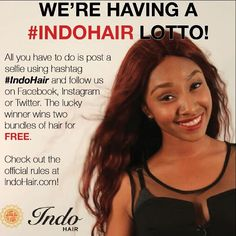 We're having a hair lotto!! #indohair visit the link in the bio for info on how you can win free bundles!!!! by indohair