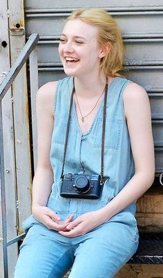 All jean everything and a vintage camera are a sure combination to make everyone inescapably aware that you're a hipster