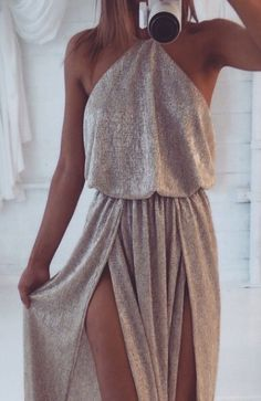 love the shape/style of this dress although I wish the slits were a bit lower..