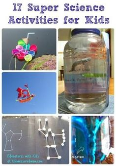 Love these hands-on science experiments & activities that introduce science concepts to kids!  Perfect for preschool & elementary age
