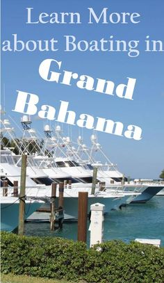 Learn more about boating to and around Grand Bahama Island, The Bahamas Caribbean Vacations, Caribbean Sea, Caribbean Cruise, Solo Travel, Travel Tips, Travel Plan, Travel Guides, Marina Resort, Bahamas Vacation