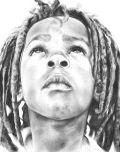Clayton kyk na die hemel - marie-stander-works/# Black Women Art, Female Art, Pencil Drawings, Marie, Ghostwriter, African, My Favorite Things, Portrait, Artwork