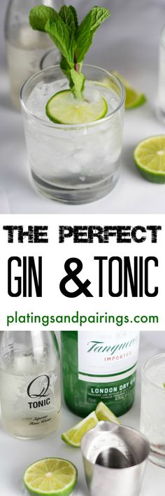 Simply put - This is the PERFECT Gin & Tonic