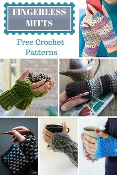Free Fingerless Mitts Crochet Patterns 19 patterns