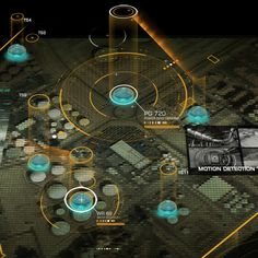 Deus Ex Human Revolution - User Interface by Eric Bellefeuille, via Behance