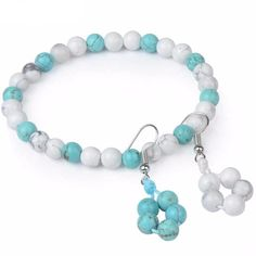 Beaded Natural Stone Set