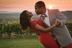 Sunset vineyard engagement shoot  Kimberly Jeff - Engagement - Gouveia Vineyards Sassy Mouth