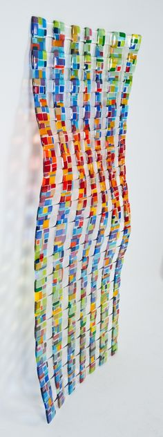 Fused Glass Wall Sculpture