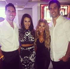 Jessie James Decker & Eric Decker. (Along with Bachelorette's Andi Dorfman & Josh Murray)