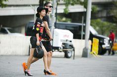New York Fashion Week street style. Photo by Ryan Kibler