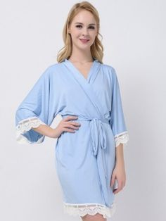 Our delicate bridesmaid pajamas are handmade and not mass produced in a factory.The pajamas are made of modal fabric, they are soft, comfy, lightweight, and actually something you would wear around the house. Bridesmaid Robes Cheap, Bridesmaid Pyjamas, Bridesmaid Dresses, Bridesmaids, Bridal Party Dresses, Kimono Dress, Stretch Dress, Jersey, How To Wear