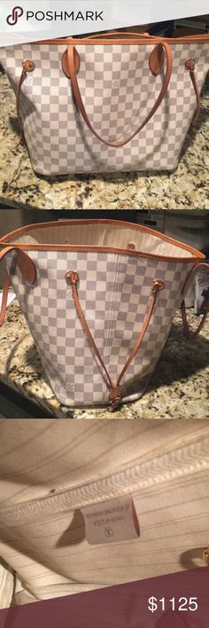 Louis Vuitton Neverfull MM Damier Normal wear/good condition authentic Louis Vuitton Neverfull MM. Louis Vuitton Bags Totes