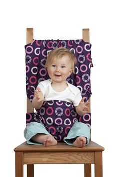 Shut the front door!!...   The Totseat. Portable high chair that fits to ANY seat wherever you go. -  I could of used this many of times!