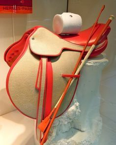 Red and buff coloured saddle