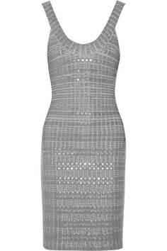 Hervé Léger Beaded bandage dress