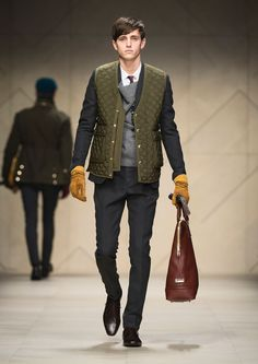 burberry prorsum | mens fashion | mens quilted jacket #Menswear Like our FB page https://www.facebook.com/effstyle