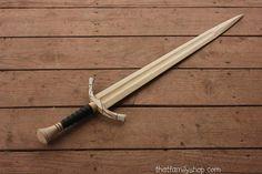 Boromir Sword Wood Replica LOTR Lord of the by FunnyFarmToyBarn
