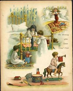 WHO'S THERE ? From An Antique Christmas Book.