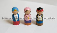 Jake & Neverland Pirate peg doll set by BubbasBasics on Etsy, $20.00