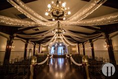 Great Interior Wedding Venue---  Elysian Ballroom In Portland (Not a fan of it being downtown, and I'd love to find an outdoor venue with a ballroom like this for the reception, but it's gorgeous.)-Liz
