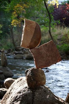 Gravity Glue 3 by Michael Grab Cairns, Rock Sculpture, Stone Sculptures, Michael Grab, Stone Balancing, Balanced Rock, Glue Art, Principles Of Design, Sticks And Stones
