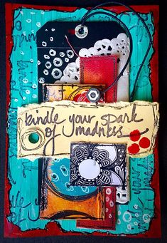Tracy Scott - ICAD one staple collage mixed media. Mixed Media Journal, Mixed Media Canvas, Mixed Media Art, Mix Media, Journal Themes, Art Journal Pages, Journal Ideas, Art Journals, Tracy Scott