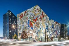 Completed in 2017 in Portland, United States. Images by Josh Partee, Peter Eckert, KuDa Photography. The Fair-Haired Dumbbell is a collaboration between FFA and Guerrilla Development, with original mural artwork by James Jean. This speculative office. Ffa, Original Artwork, Original Paintings, The Shape Of Water, Creative Company, Oregon Travel, Guerrilla, Portland Oregon, Oregon Usa