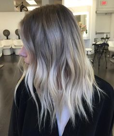 light brown and blonde shaggy balayage hair