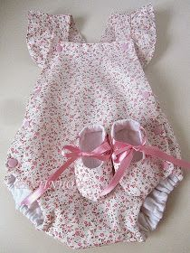 Does anyone know of a tutorial for baby bloomers something like this or similar thanks sewing crafts handmade quilting fabric vintage diy craft knitting Handmade Baby Clothes, Cute Baby Clothes, Doll Clothes, Baby Dress Patterns, Baby Clothes Patterns, Clothing Patterns, Skirt Patterns, Coat Patterns, Blouse Patterns