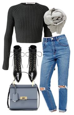 """Untitled #4428"" by amm-xo ❤ liked on Polyvore featuring T By Alexander Wang, Yves Saint Laurent, ASOS, Brunello Cucinelli and Balenciaga"