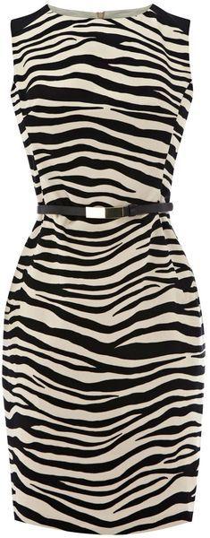 """oasis"" Zebra Print Patched Dress dressmesweetiedarling"