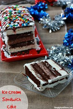 Ice Cream Sandwich Cake #SunsoutSpoonsOut #ad @bluebunnyic