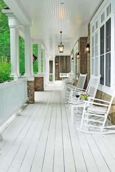 I hope I have a big porch someday.  Keep the iced tea coming.