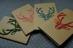 DIY Deer emboiderie Notebook Moleskine