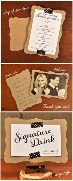 3 different ways to use decorative cards for your big day.
