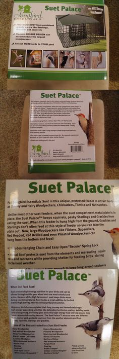 Seed Feeders 42350: Squirrel Proof Resistant Suet Palace Wild Bird Feeder -> BUY IT NOW ONLY: $35 on eBay!