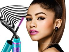 Use CoverGirl's The Super Sizer Fibers Mascara for big, long, extended lashes.  Benefits: Fiber length formula Full, fanned out lashes Lash Styler finds and transforms even small lashes